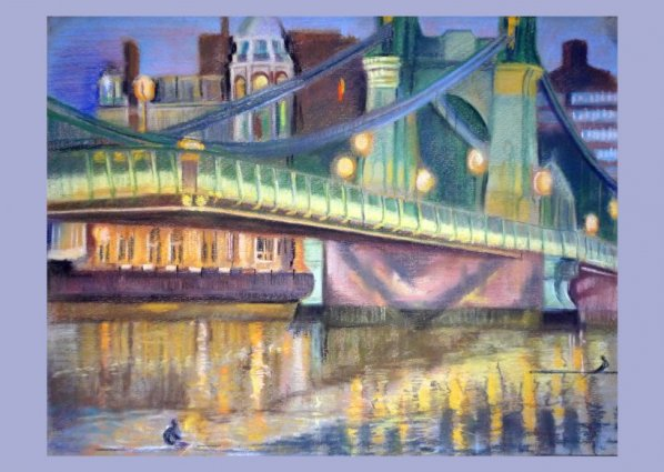 Hammersmith Bridge, Illuminated (poster)