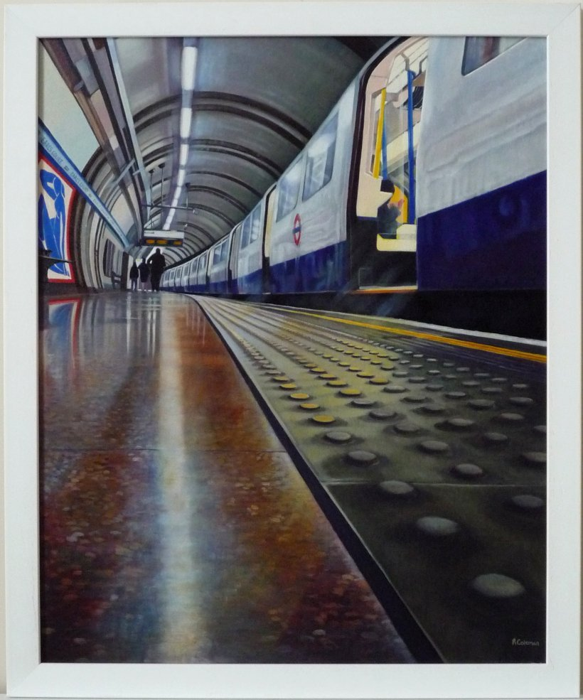 Earls Court (framed original oil painting)