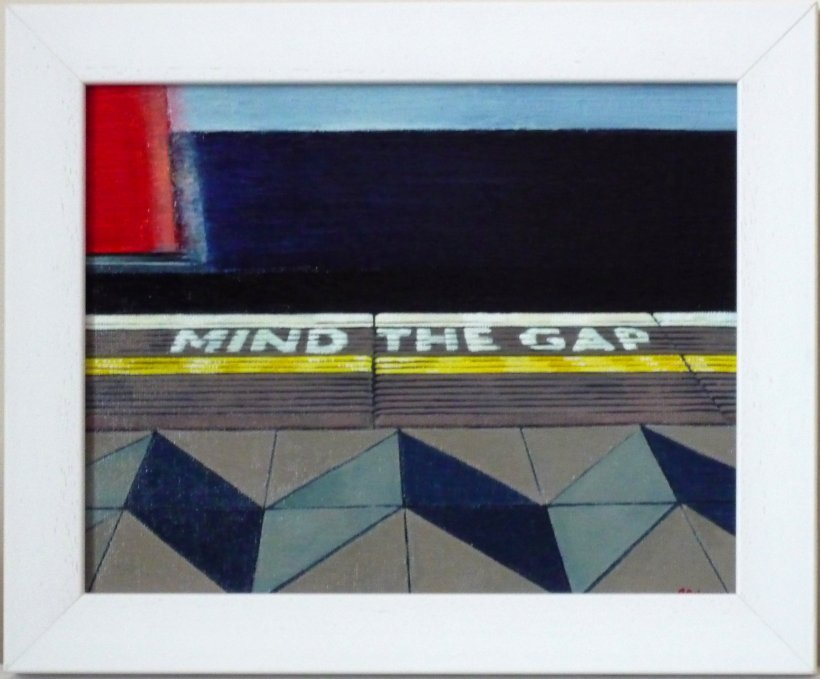 Mind The Gap 1 (framed original painting)