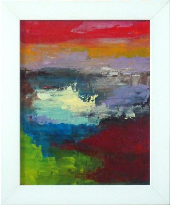 Essence of Colour I (original painting, framed)