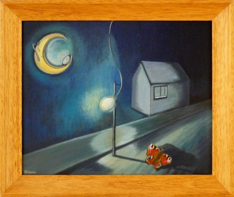 Moontime (original painting, framed)