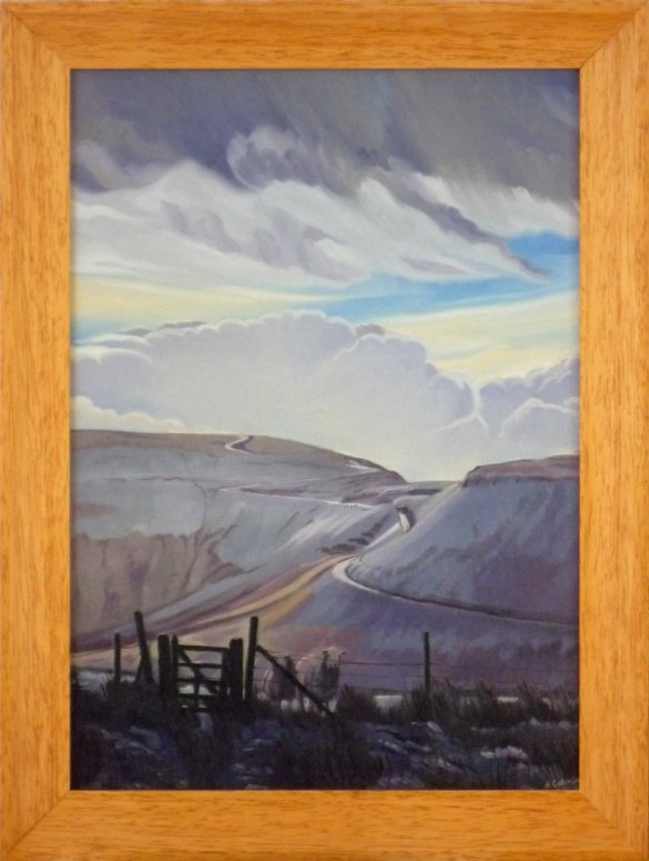 The Bwlch in Winter (original oil painting, framed)