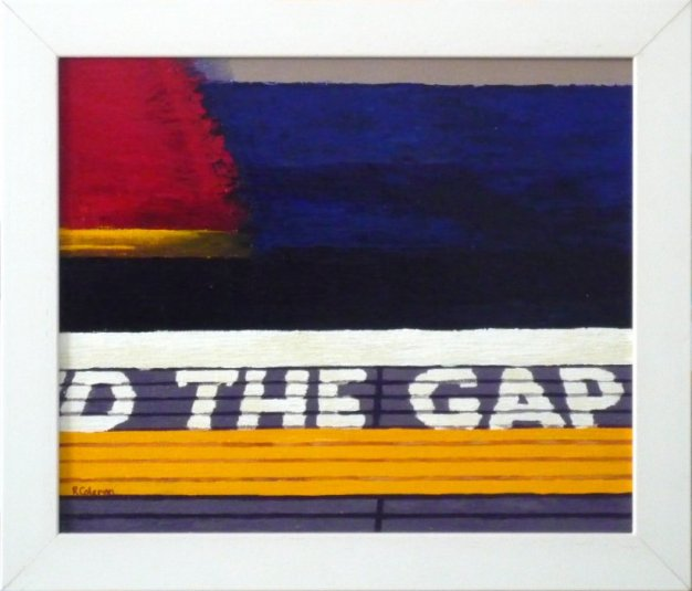 Mind The Gap 7 (original painting, framed)