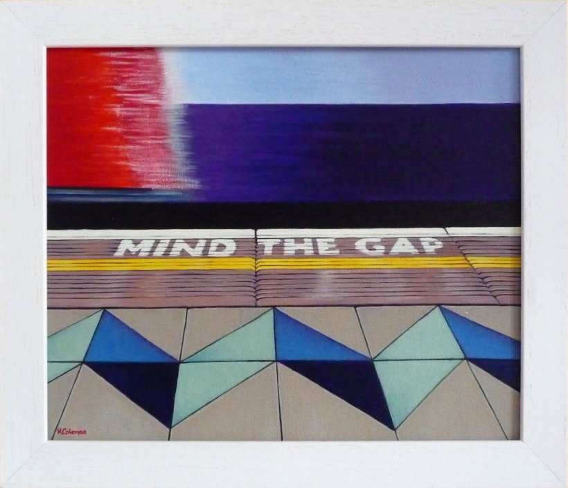 Mind The Gap 1 [state II] (original painting, framed)