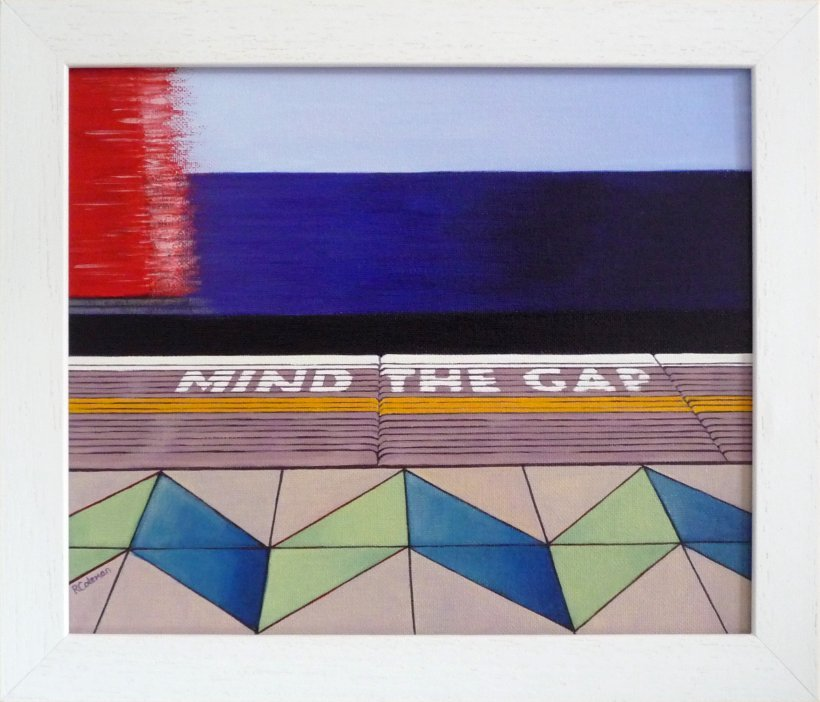 Mind The Gap 1 [state III] (original painting, framed)