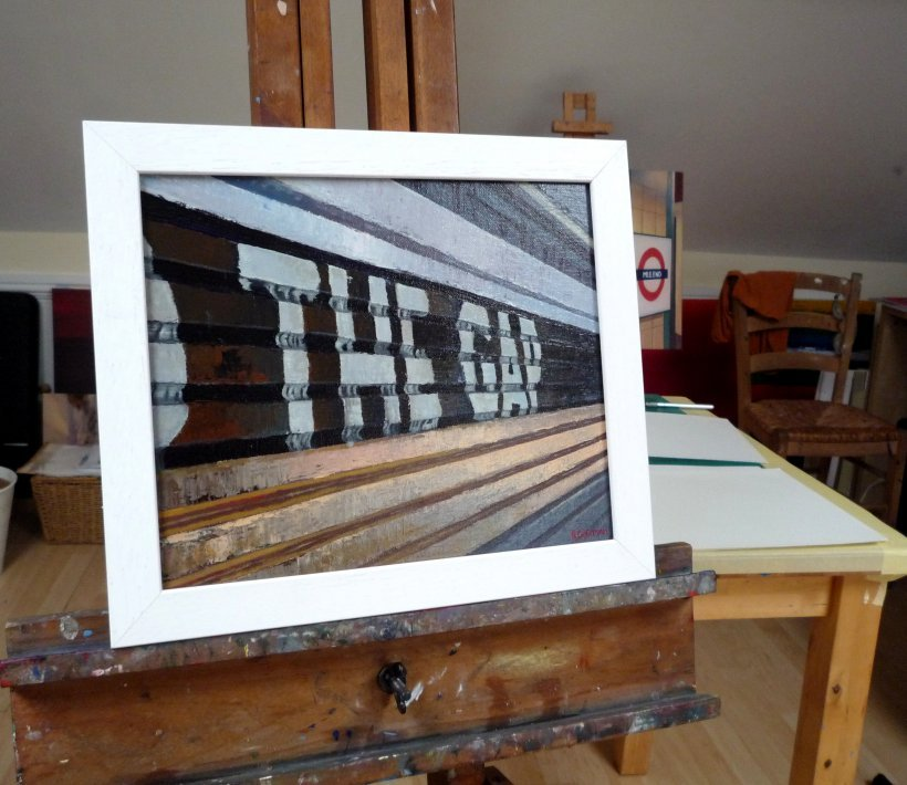 Mind The Gap 8 (original painting, framed)