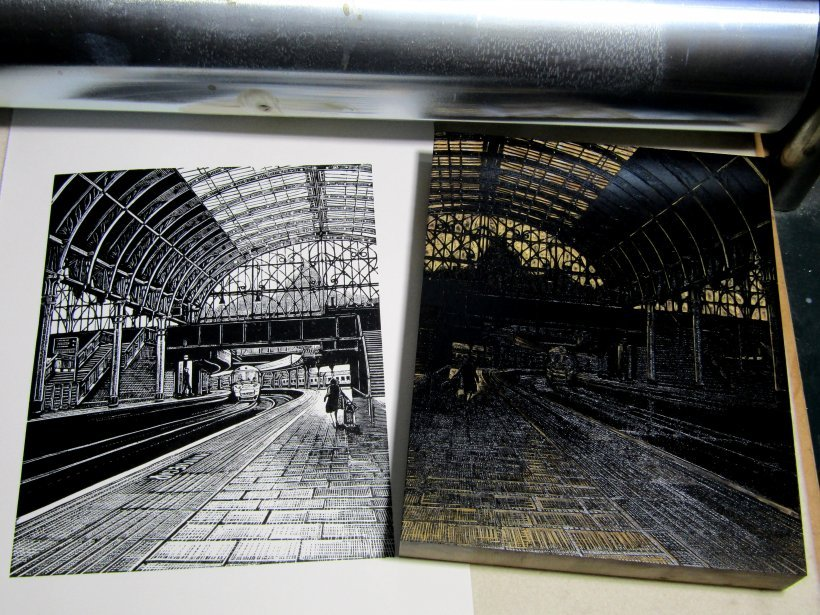 Paddington Station: Platform 8 (original print)