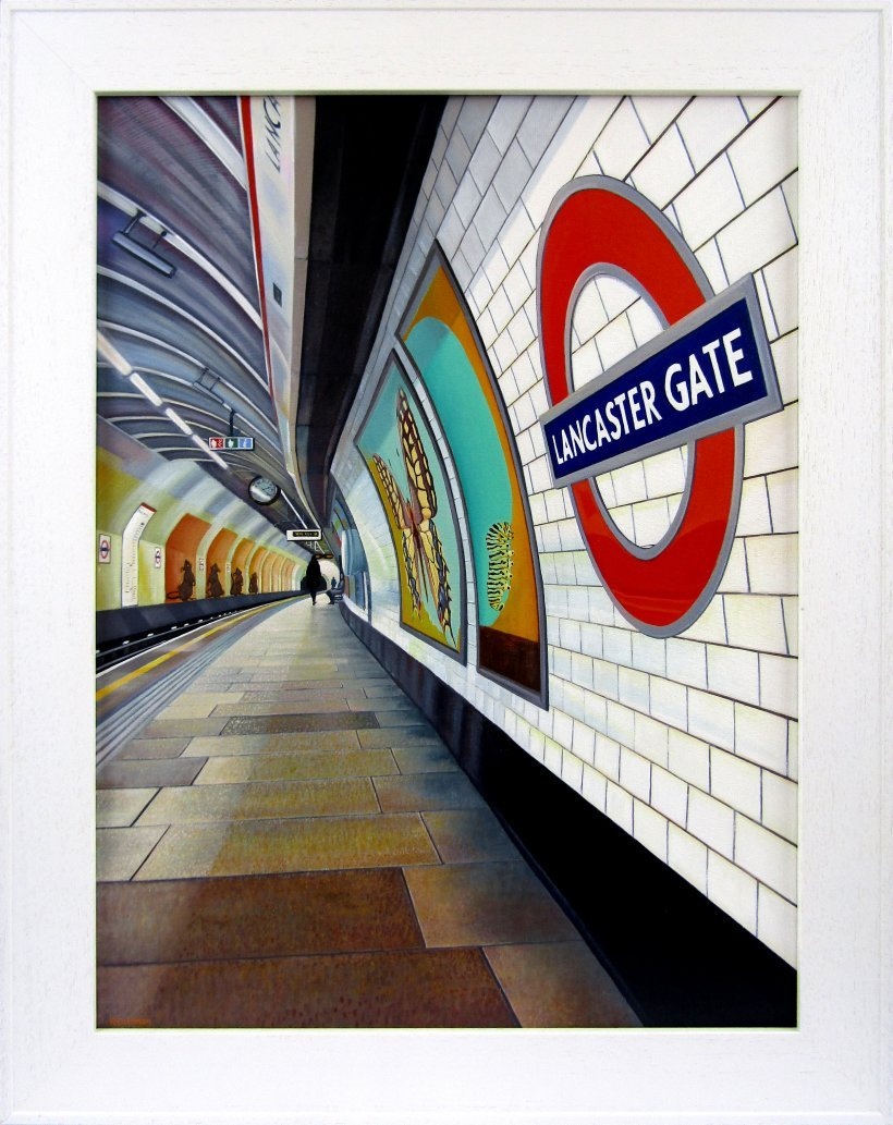 Lancaster Gate 2 (original oil painting, framed)